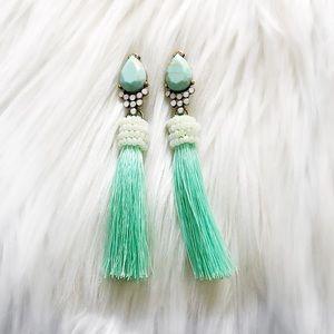 Jewelry - Mint Tassel Earrings